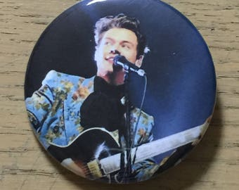 Harry Styles 2.25 inch Custom Pinback Button Sept 2017 Los Angeles