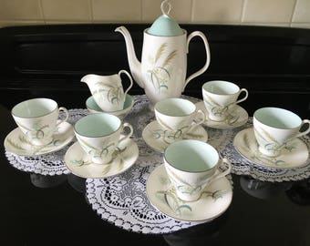 Royal Albert Festival coffee set 15 piece set of vintage china