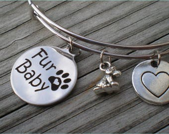 Silver Fur Baby Bangle, Adjustable Bangle, Jewelry Findings