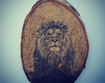 Charity Pyrography (Wood Burning) Lion