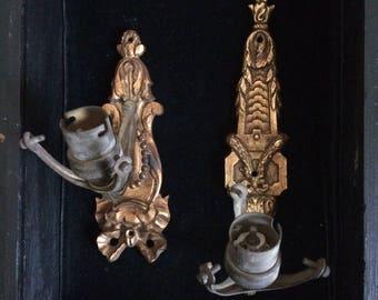 A pair of sconces gilded bronze, antique