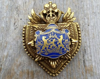 Netherlands Heraldic Coat of Arms Shield Brooch