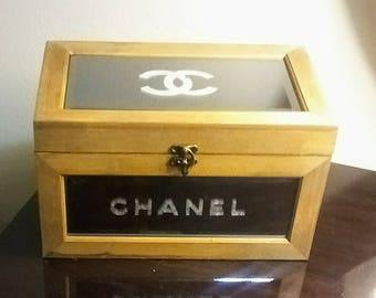 Chanel inspired mirrored jewelry box