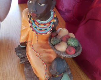 Beautiful Ornament From Shudehill. African Lady With Baby.