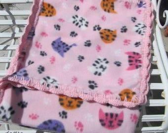 Cat Blanket, Cat Fleece Blanket, Cat Lovers Blanket, Pet Blanket, Pet Bed, New Cat Gift