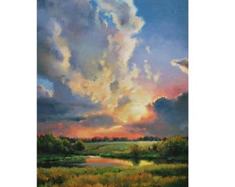 Picture on canvas Oil Paintings Landscape Nature Very realistic picture Wall Art Great Art