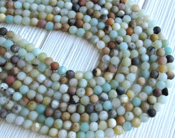 6mm Amazonite beads, full strand, Frosted amazonite beads, Matte amazonite beads, amazonite beads, multicolor amazonite, jewelry supplies