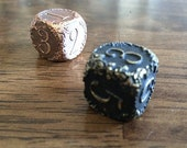Engraved Floral Scrollwork Dice for Tabletop Gaming - You Pick the Color!