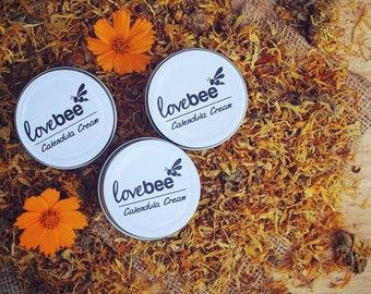 All Natural Handmade Soothing Calendula Cream | LoveBee |