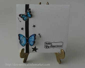 Card - birthday card - butterflies - enjoy every moment