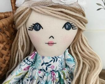 Rag Doll Cloth Doll Fabric Doll Rag Dolls Cloth Dolls Fabric Dolls Handmade Doll Boho Doll Easter Doll Heirloom Doll Little Wildwood Dolls