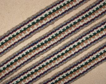 Inkle woven belt, wool