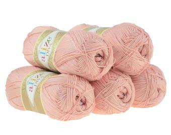 Alize diva stretch set di 5 matasse filati fascia acrilico - Lancia y diva rosa ...