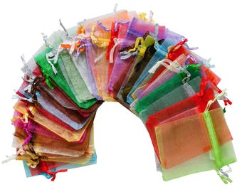 20 Organza Bags 20 Colours, 12 x 9 cm, Tuscan gift bag Packaging