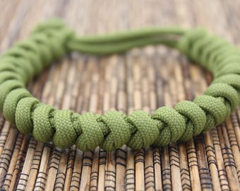 Olive - Snake Knot - Paracord Bracelet - Adjustable