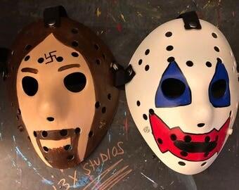 John Wayne Gacy and Charles Manson Custom 13X Studios Hockey Mask