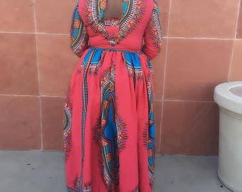 African high low dress