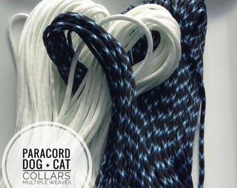 LIGHTNING Paracord Dog + Cat Collar -Multiple Weaves-