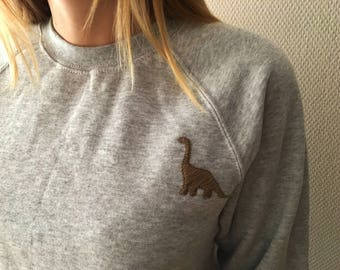 Sweatshirt with Dinosaur Embroidery