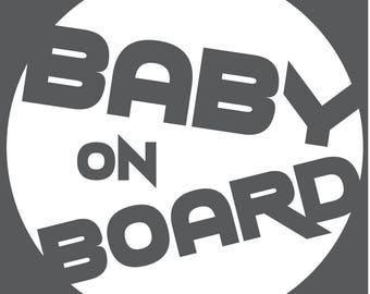 Baby On Board Decal - Circle Trek