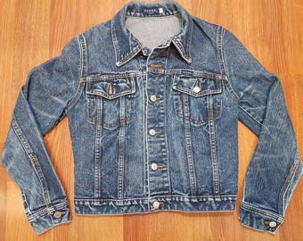 Vintage Guess Denim Jacket, Vintage Denim Jacket, Vintage Guess Jean Jacket Size S