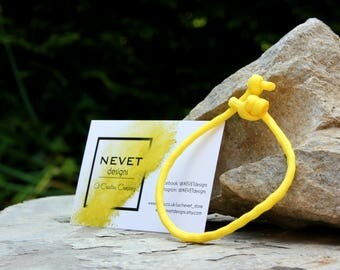 NEVET Yellow Paracord / Climbing Rope Bracelet