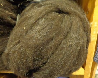 Black lambs wool Roving