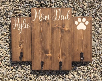 Key hook His/Hers/Child's name/Pawprint