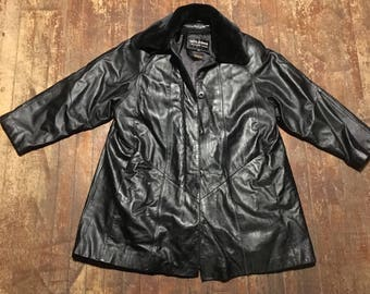 Wilsons Mid Length Leather Coat With Thinsulate Liner