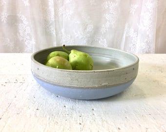 Ceramic bowl, Salad bowl, Pottery bowl, Serving bowl, Blue bowl, fruit bowl, Rustic bowl, Serving bowl, housewarming gift