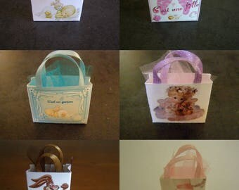 to choose from, miniature, shopping bag, baby bag, birth, chocolate bag, dance