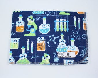 "Science Lab Extra Large Receiving Blanket - 36"" x 42"""