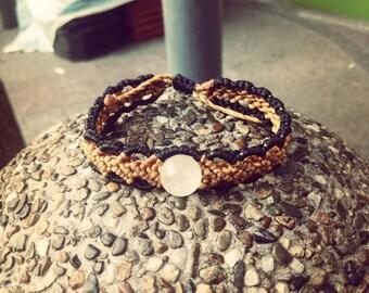 Macrame bracelet Rose Quartz