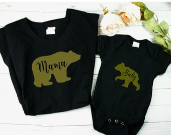 Creative Pregnancy Announcements / Mom and baby shirts