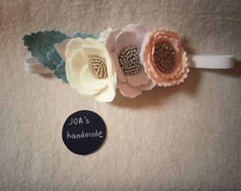 Three flowers headband