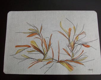 seaweed on canvas of glass