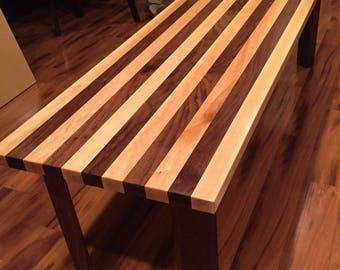Custom made long coffee table