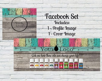 Facebook Cover Photo | Profile Pic | Essential Oils | Customized | Personalized | Digital File | Small Business | Rustic Facebook cover