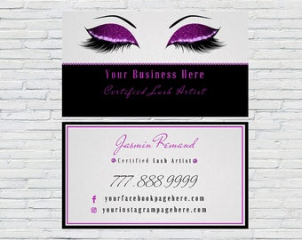 Esthetician Business Card, Lash Extensions, Make up Artist, Lash Artist Business Card, Digital File, Printable, Download, Personalized