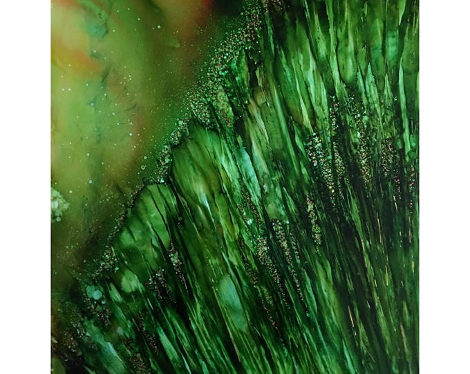 "Original Alcohol Ink Abstract Painting: ""Growth Spurt"" (11"" X 14"")"