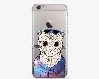 Art Cat Case For Samsung S4 Case Phone iPhone Case to Galaxy S5 Clear Case SE iPhone Case iPhone 6 Case iPod Touch 6 Case Personalized c182