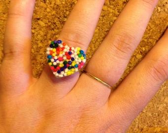 Handmade Heart Ring -  Sprinkle