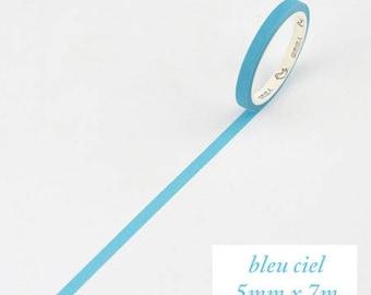 Masking Tape BASIC COLOR / sky blue Exter Paper Tape/washi tape/1 roll masking tape (fine) basic colors, sky blue, 5 mm * 7 m