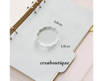 Acrylic block for clear stamps / clear plastic / scrapbooking / creative supply /