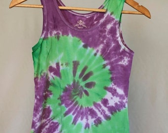 25% OFF ENTIRE SHOP Girls Size 12 Singlet - Beach - Festival - Ready To Ship - Tie Dyed - Fashion - 100 Percent Cotton - Free Shipping withi