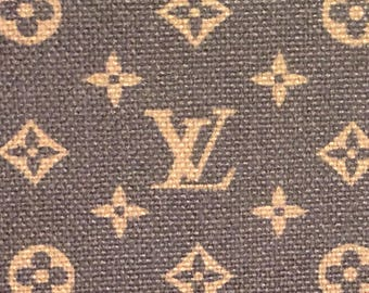 LV Louis Vuitton Inspired Pink or Brown Red Black Classic Monogram  Fabric 1 Yard