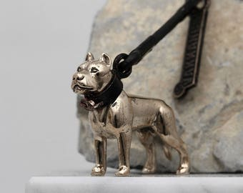 Vakkancs Dogo Argentino bronze keychain (3D)