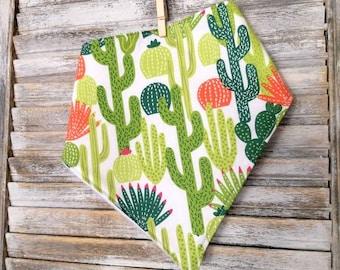 Cactus bandana bib, bibdana, cactus theme gift, cactus baby shower, succulent theme baby gift, Baby bib, drool bib, heavy drooler