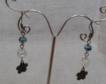 "Earrings ""bronze little flower"""