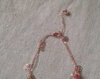 """little golden flowers and pearls"" bracelet"
